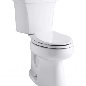 American Standard 2467.136.020 Cadet Flowise Right Height Elongated Pressure Assisted Two Piece Toilet with Bedpan Slots White