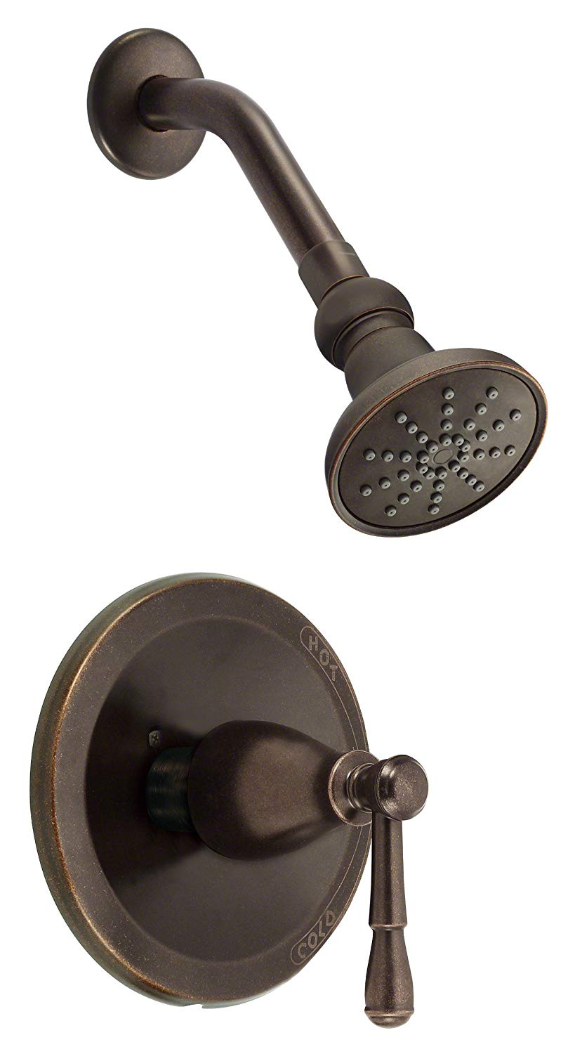 Danze D501515brt Eastham Single Handle Shower Trim Kit 1 75 Gpm Valve Not Included Tumbled Bronze